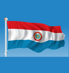 Flag of paraguay vector
