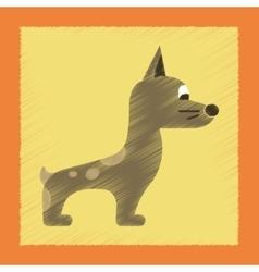 Flat shading style icon dog smiles vector