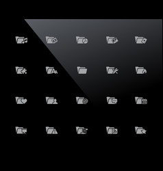 folder icons - set 2 of 2 32px series vector image