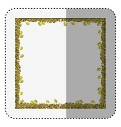 Frame ornament with olives and leaves vector image