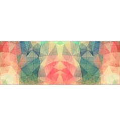Geometric triangles on colorful background vector