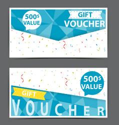 Gift voucher certificate coupon vector
