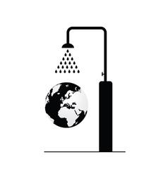 globe under shower vector image
