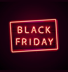 glowing black friday with glitter vector image