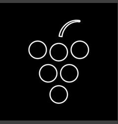 grape white color icon vector image