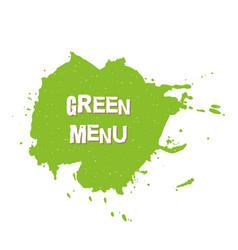 green menu fresh vegan eco bio raw organic vector image