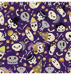 Halloween skulls pattern 01 vector