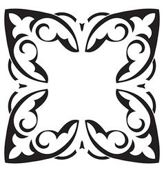 Hand drawing decorative tile frame Italian vector