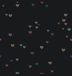 heart shape doodle love pattern background vector image