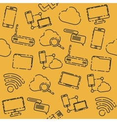 Internet and technology pattern vector