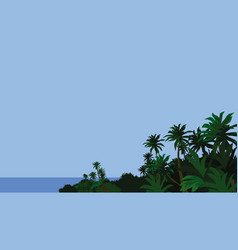 island is covered with rainforest vector image