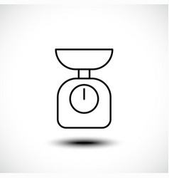 Kitchen scale line icon vector