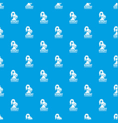 knight helmet pattern seamless blue vector image