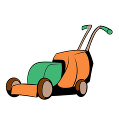 Lawn mower icon cartoon vector