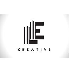 Le logo letter with black lines design line letter vector