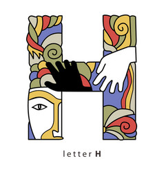Letter h with mask vector