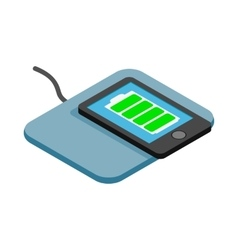 Mat for charging phone icon isometric 3d style vector