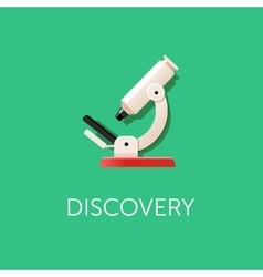 Microscope icon Scientific Discovery Modern flat vector image