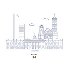 monterrey city skyline vector image