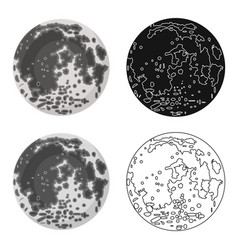 moon icon in cartoon style isolated on white vector image