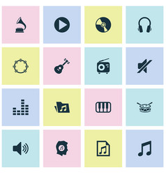 Music icons set collection of sound equalizer vector