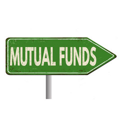 Mutual funds vintage rusty metal sign vector