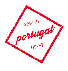 new in portugal rubber stamp vector image