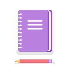 notebook with spiral to write memos pencil icons vector image