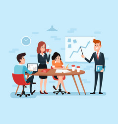 Office teamwork or business meeting busy vector