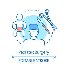 Pediatric surgery concept icon vector