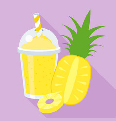 pineapple smoothie or juice vector image