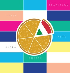 pizza taste italy vector image