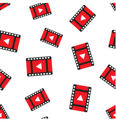 Play video seamless pattern background business vector