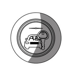 Rent a car business vector