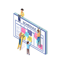 Schedule people planning time wisely big board vector