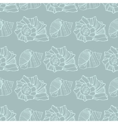 Seamless pattern with decorative shells vector image