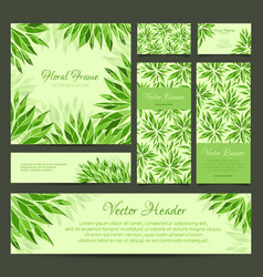 set banners business card frame and headers vector image
