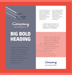 ship business company poster template with place vector image
