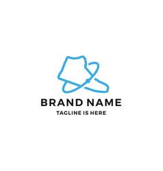 Shoe sneaker planet shop store trade logo icon vector