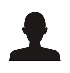 silhouette man avatar people icon vector image