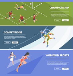 sport banners olympic games athletes in action vector image