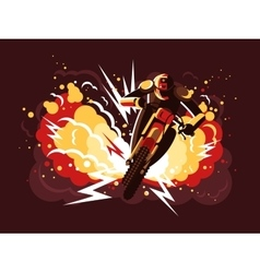 Stuntman on motorcycle vector image