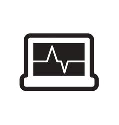 Stylish black and white icon ECG machine vector