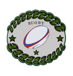 the theme rugby vector image
