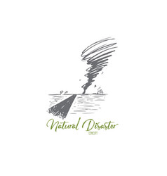 tornado hurricane storm weather wind concept vector image