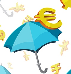 Umbrella Currency Symbols Finance vector image