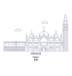 Venice city skyline vector