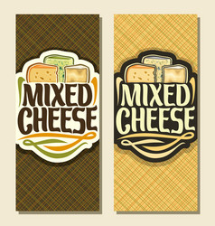 Vertical banners for cheese vector
