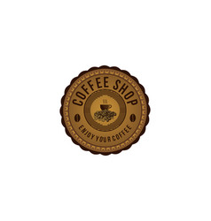vintage coffee logo design inspiration vector image