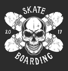 Vintage skateboarding logotype template vector
